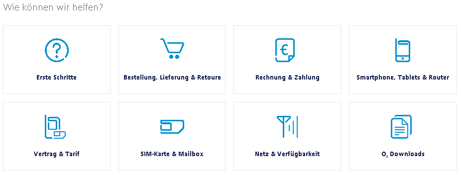 O2 Kundenservice online